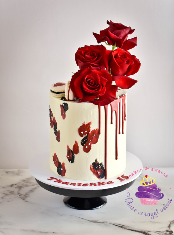 Sensational Red Black Birthday Cake Funny Birthday Cards Online Inifodamsfinfo