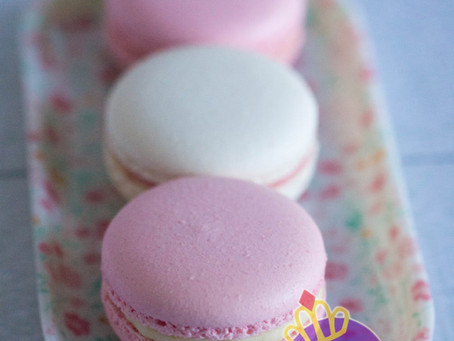 Pink & White Macarons for Baby Shower