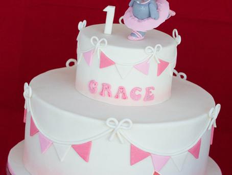 Ballerina Hippo Cake for Grace's 1st Bday