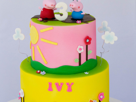 Peppa Pig Cake for Ivy