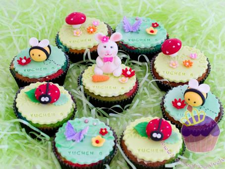 Garden Themed Cupcakes For Yuchen