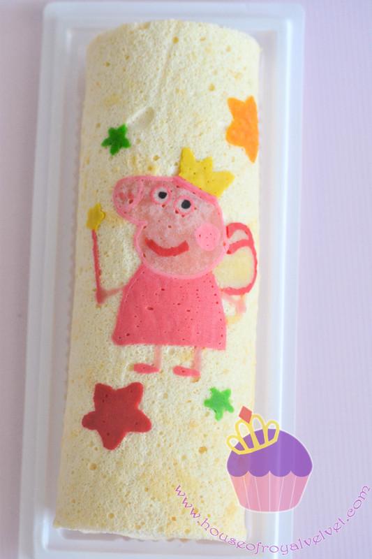 peppa pig roll cake
