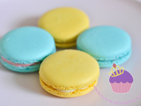 Blue & Yellow Macarons for David