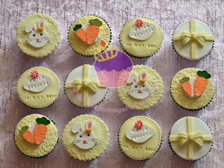 Rabbit Full Month Cupcakes For Kayla