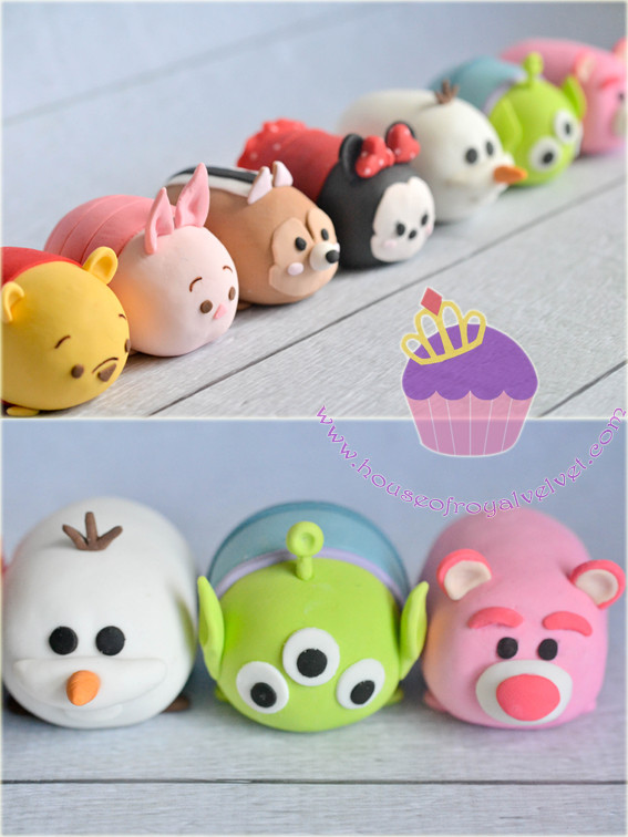 tsumtsum cake toppers