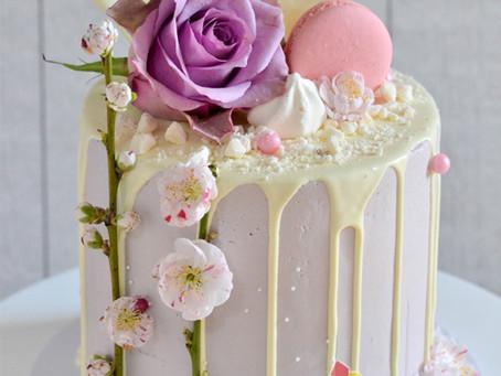 Purple Cake with Drip