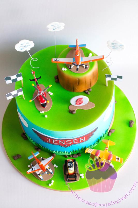 dusty plane cake