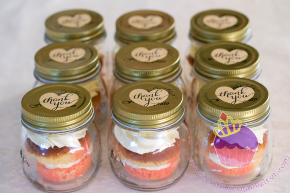 cupcakes in the jars