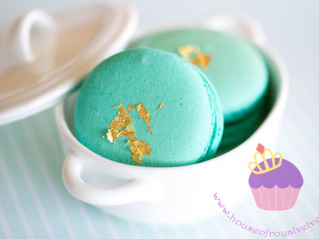 Teal Macarons for Jemma's Baby Shower