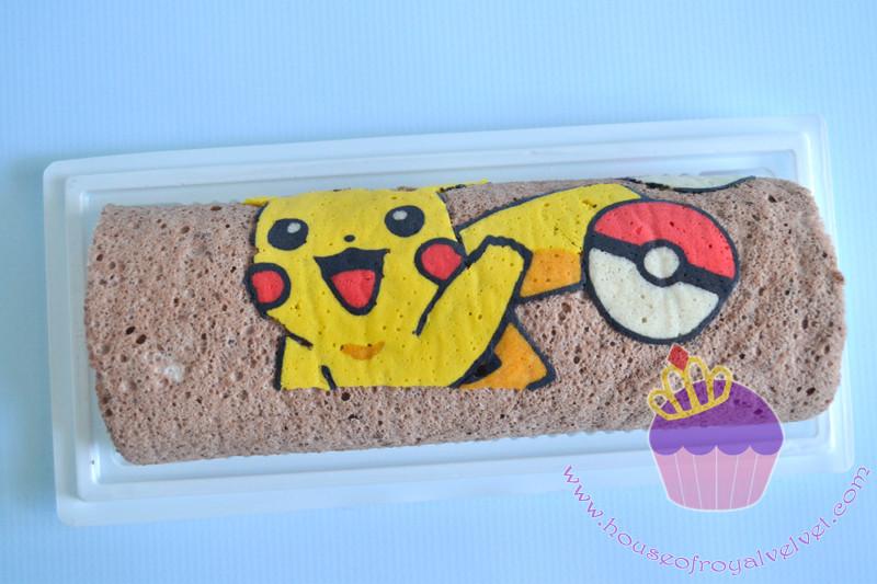 pokemon roll cake
