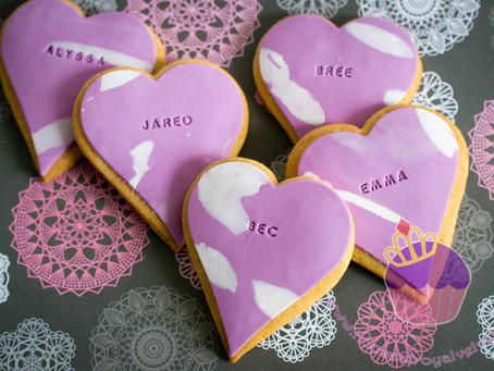 Customised Wedding Cookies for Lauren
