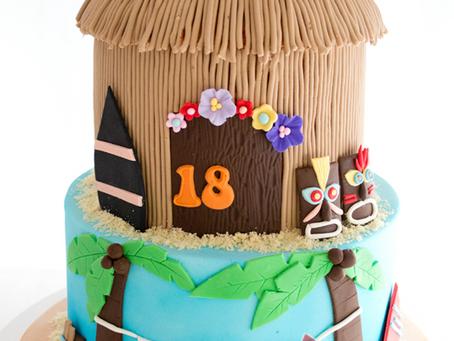Tiki Hut Cake for Shane