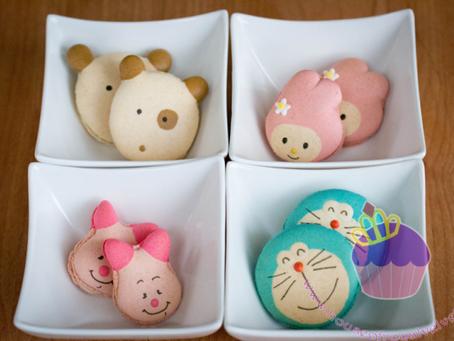 Customised Engagement Macarons for Angela & Ponti