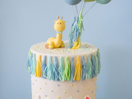 Giraffe and Balloons Cake for Luca