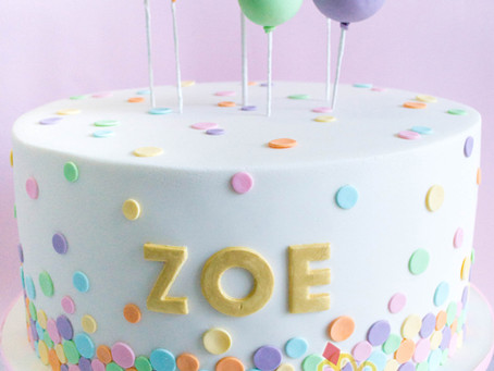 Balloons & Confetti Cake for Zoe