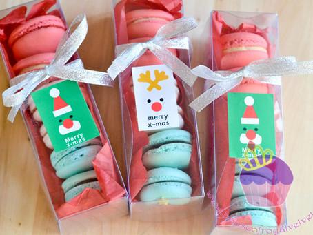 Christmas Macarons of 6