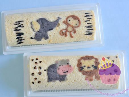 Animal Decoroll Cakes
