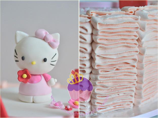 Hello Kitty Ruffled Buttercream Cake for Eva Perth Cakes Perth