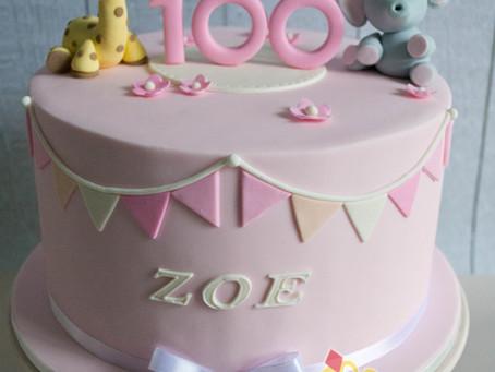 100 Days Cake for Zoe