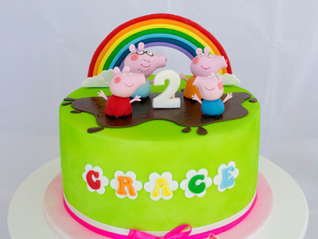 Peppa Pig Cake with Rainbow for Grace