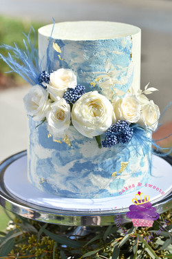 blue marbled cake