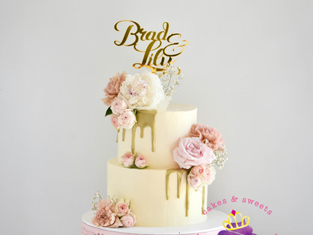 Wedding cake for Brad + Lily