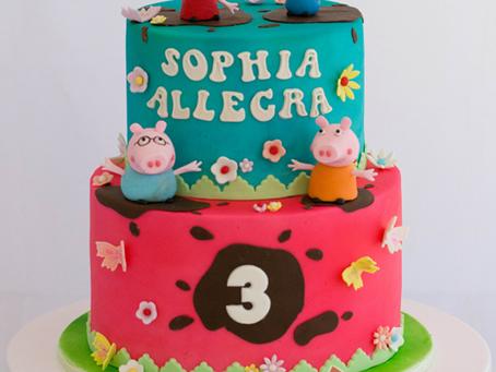 Peppa Pig Cake for Sophia