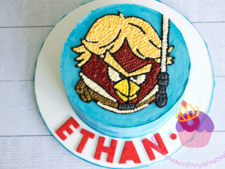 Angry Birds Starwars Cake for Ethan