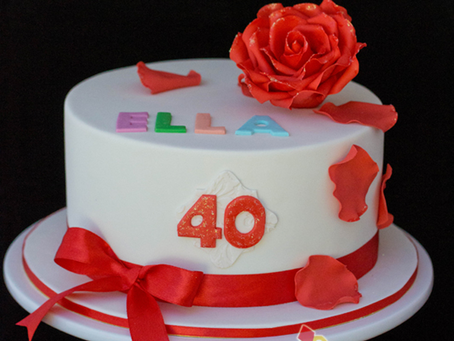 Rose Cake for Ella's 40th Birthday