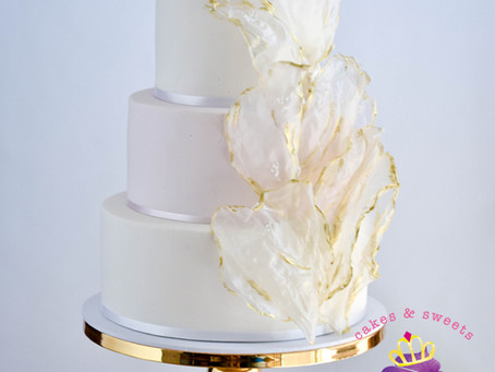 Wedding Cake with Rice Paper Sails