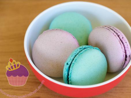 Violet & Aqua Macarons