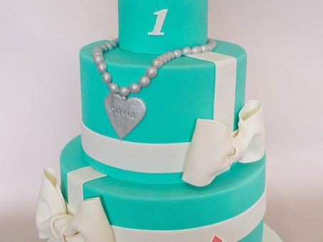 Hello Kitty and Tiffany Blue Cake for Olivia
