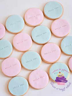 pink & blue cookies