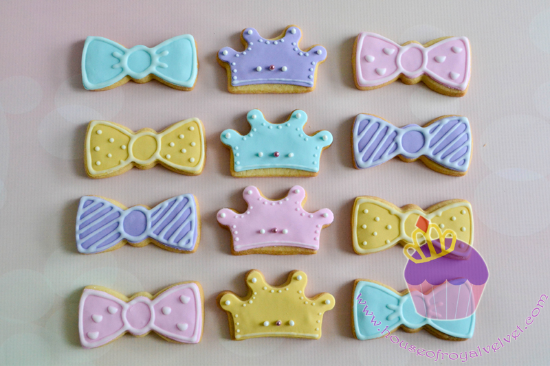 bow tiara cookies