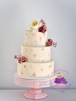 wedding cake petals