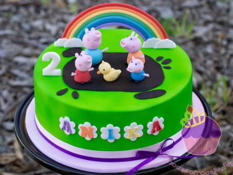 Peppa Pig Cake for Anika
