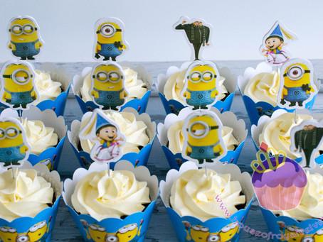 Minion Cupcakes for Axel