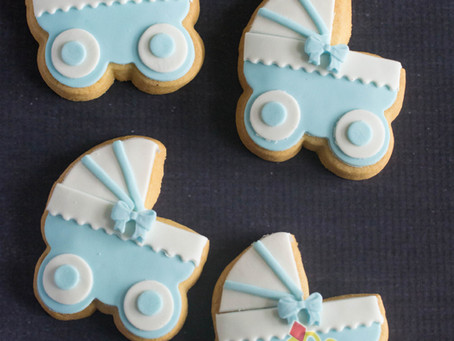 Pram Cookies for Baby Shower