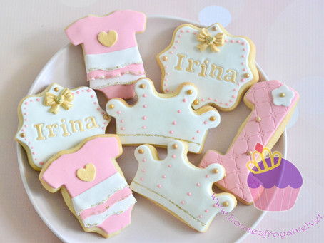 Pink and Gold Cookies for Irina