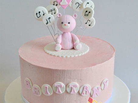 Music & Teddy Bear Cake for Brittany