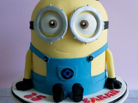 3D Minion Cake for Sarah