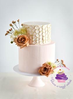 nude pink cake