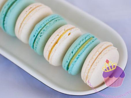 Aqua & White Macarons for Tiara's Birthday