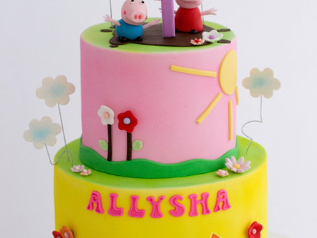 Peppa Pig Cake in Pastel Colours for Allysha