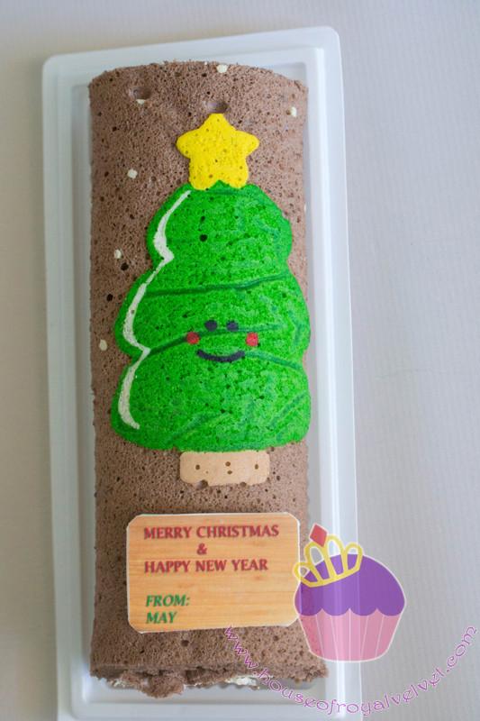 christmas tree roll cake