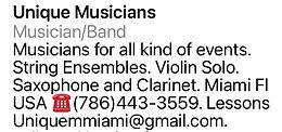 Unique Musicians