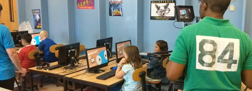 BTS - Students learning on their computers