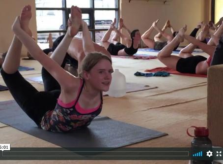 Radha's joy of sharing yoga