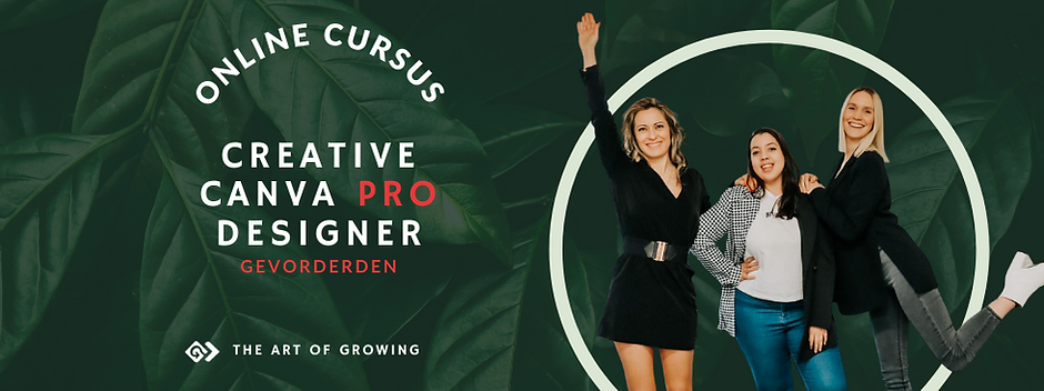 Canva cursus voor gevorderden - The Art of Growing