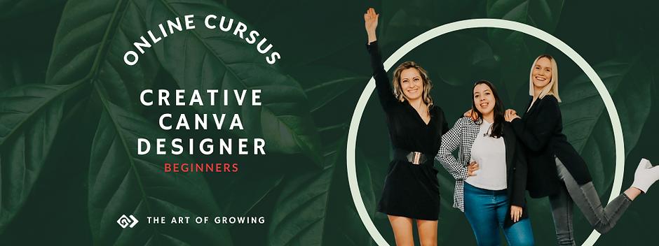 Canva cursus voor beginners - The Art of Growing